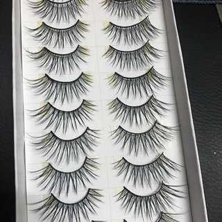 Fluffy flattering fake lashes (falsies)