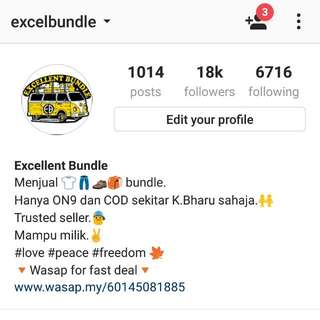 Follow IG @excelbundle for more stuffs!