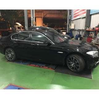 BMW F10  8.5J 輪圈框+輪胎-(非原廠)-19吋-馬牌SportContact 6 csc6 245/40/19-無前後配
