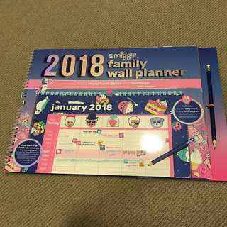 smiggle 2018 wall planner