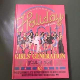 少女時代正規六輯Holiday Night-Holiday版本全新未拆無海報
