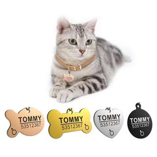 Customized Personalized Deep Engraving Pet ID Tag For Dogs & Cats