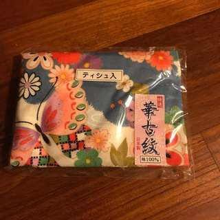 Authentic Japanese floral tissue pouch (brand new)