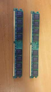 Kingston 2G ram x 2 pcs