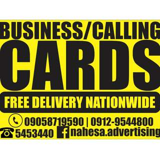 Affordable Premium Quality Business Cards / Calling Cards - Free Delivery