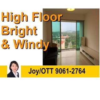 Spacious Cozy 2-Bedrooms 2 Bathrooms. Unblocked High Floor. Bright & Windy. Next to Ai Tong Primary School.