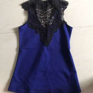 Love Bonito Crochet Knit Top