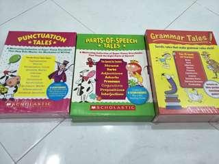 Scholastic grammar, punctuation , part of speech tales sets