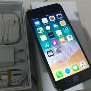 iPhone 6 64GB Space Grey 4G LTE Fullset mulus like new minus wifi