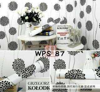 Wallpaper Dinding Uk. 10m Motif Dandelion Juntai