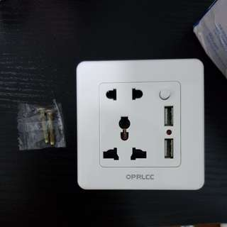 Usb wall Power Socket plug