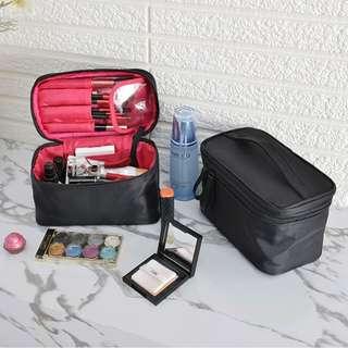 Solid Color Travel Makeup Bag