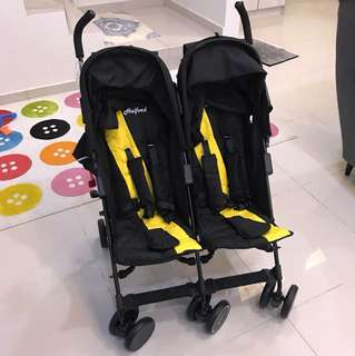 Double stroller Halford