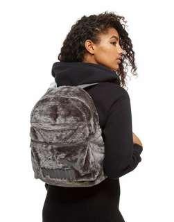 (❤情人節必備$800/2件) PUMA x Rihanna Faux Fur Backpack 皮草 雙肩包 背包 男女裝 情侶款 # Grey 灰