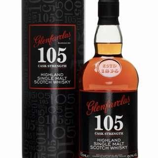 Glenfarclas Whisky 105 Cask Strength Highland Single Malt Whisky
