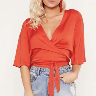Glassons silk wrap top