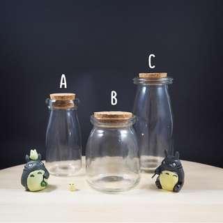 Cork Glass Jars