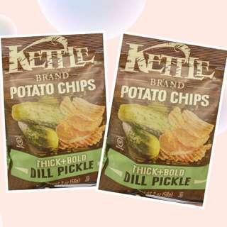 Kettle 酸青瓜味厚切薯片