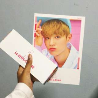 WTS OFFICIAL WANNA ONE TO BE ONE PINK VERSION DAEHWI COVER & SLEEVE