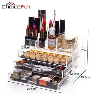 Acrylic Makeup Organizer Storage Box Cosmetic Organizador de maquiagem Makeup Storage Drawers Organizer