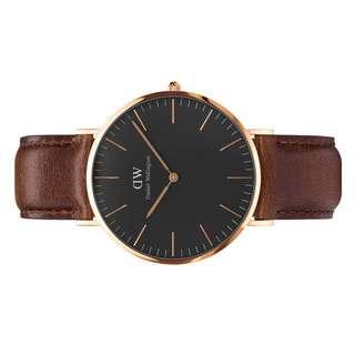 【官網直送】DW Daniel Wellington CLASSIC BLACK BRISTOL 40MM (男式手錶)