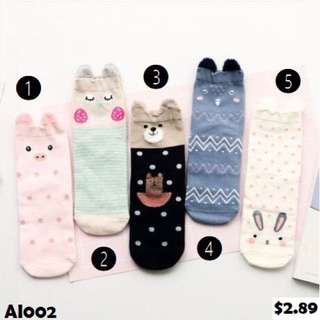 Ready Stocks - Cute animal socks
