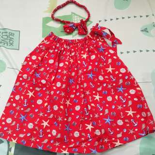 MTO red dress for babies