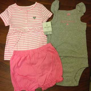 BNIP 24m Carter's 3-Piece Girl Set