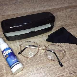 NEW - Kacamata bening (gold)