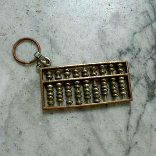 Metal Abacus Keychain Vintage