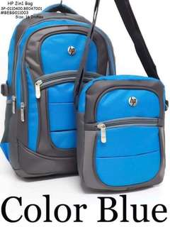 HP 2in1 bag with laptop case size : 16 inches (backpack) 8 inches (sling bag)