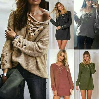 Sweater Casual Model V-Neck