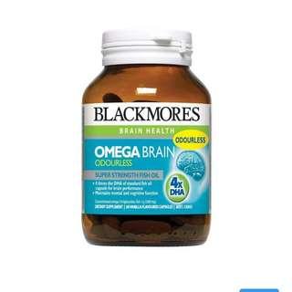 Blackmores Omega Brain 4 x DHA高濃度深海魚油健腦配方