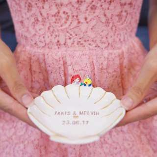 (Personalized) Handmade Ring Dish / For Trinkets And Accessory