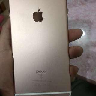 iPhone6SPlus128G玫瑰金,有原装盒,送全新保護殼