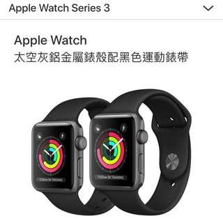 Apple Watch series 3 太空灰 38毫米