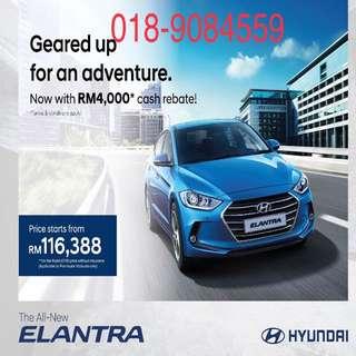 Rebate Rm5k new hyundai elantra 2.0 MPi engine sedan family car