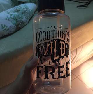 """TYPO - """"All Good Things Are Wild and Free"""" Water bottle"""