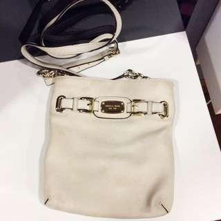 Michael Kors White Sling Bag