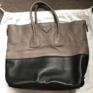 Prada Cervo Shopping Tote Bag