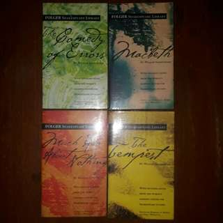 Shakespeare titles (set of 4 books)