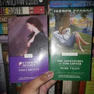 Classic books set (Tom Sawyer & Wuthering Heights)