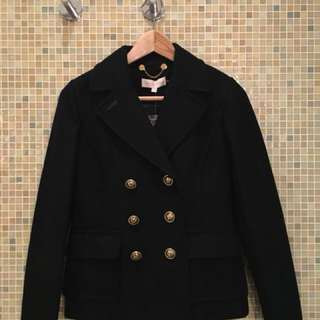 Tory Burch Allison Coat Black Size 2 Wool