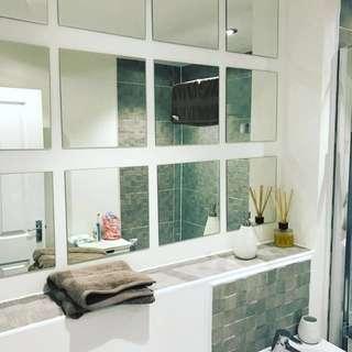 📐DIY IKEA  Lots tile mirrors ✔️On-hand✔️ 1 set(4pcs)