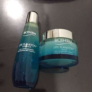BN Biotherm life plankton essence and mask