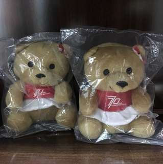 Singapore Airlines couple teddy bear