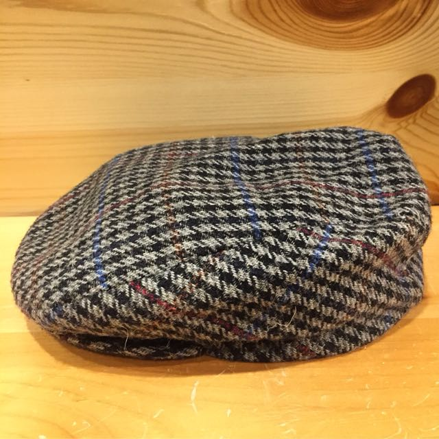 🇺🇸70s千鳥格紋復古羊毛狩獵帽 美國古董老帽 男女皆可Vintage 歐美古著