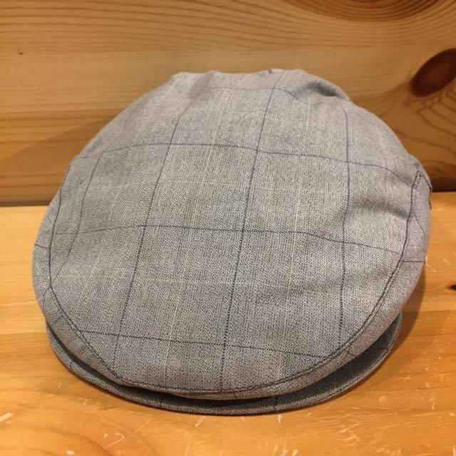 🇺🇸70s灰色格紋復古狩獵帽 美國古董老帽 男女皆可Vintage 歐美古著