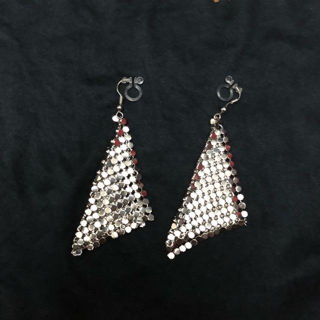 特價:夾式耳環銀色