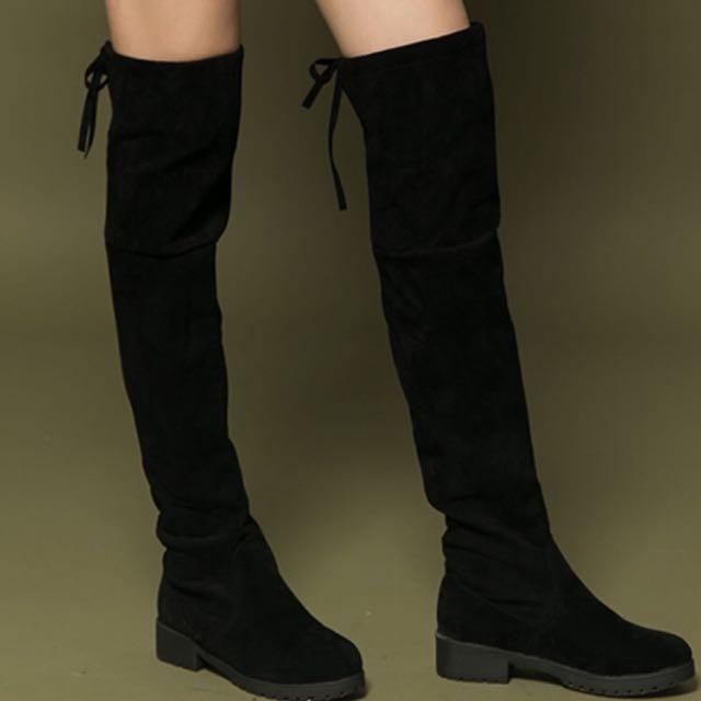 顯瘦膝上靴